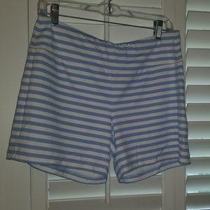 NWT J McLaughlin Catalina Cloth Shorts Blue/White